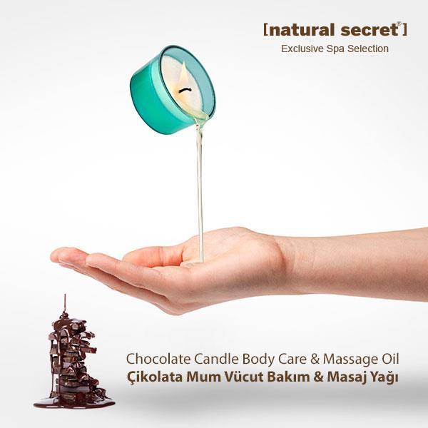 Çikolata Mum Masaj & Vücut Bakım Yağı